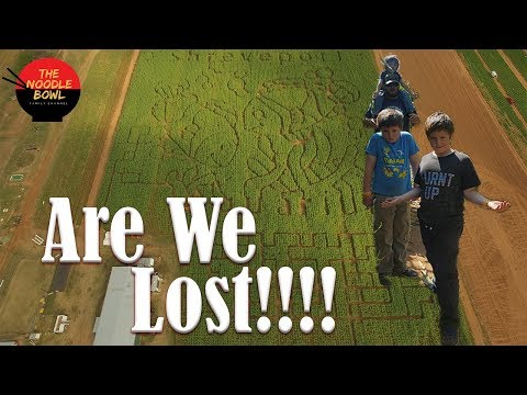 Lost in the Dixie Corn Maze, Did the Drone Help? Dixie Maze Farms  fall festival