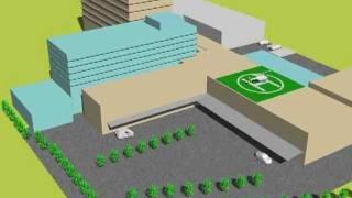JA長野厚生連北信総合病院の再構築CG(その2)