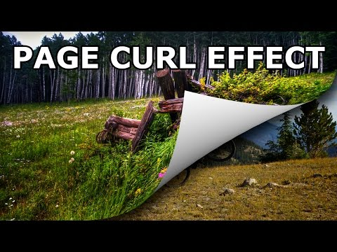 Photoshop Page Curl Effect - Page Turn Effect Tutorial