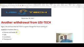 USI TECH withdrawal 20 Sept 2017