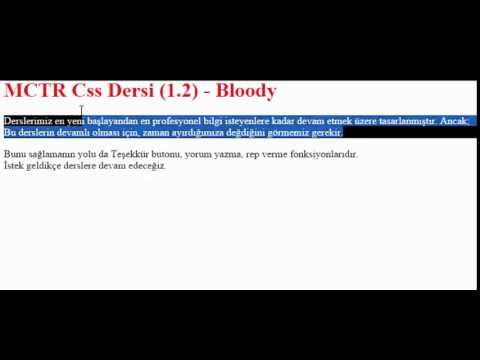 Css Dersleri 1.2 - Kod Yapısı Ve Seçici (Selector) Tipleri