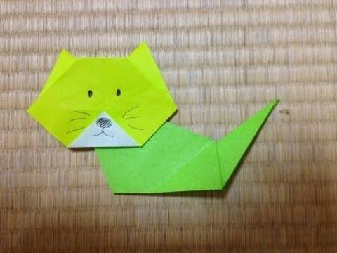 ハート 折り紙 折り紙 ネコ : youtube.com