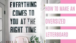 Oversized letter board Video