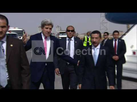 EGYPT: U.S. SECRETARY OF STATE JOHN KERRY ARRIVAL