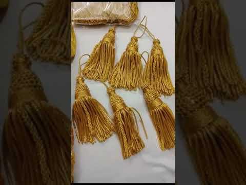 Handmade bullion thread or Bullion Fringe and Tassels