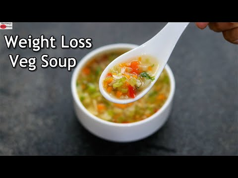 Weight Loss Soup – Veg Soup Recipe For Dinner – Healthy Diet Soup | Skinny Recipes