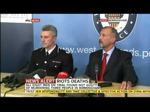 Birmingham Riot 2011: Winson Green Murder Trial - 8 Men Cleared / Police Press Conference