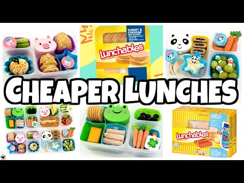 WAY CHEAPER DIY LUNCHABLES $$$ Back To School Lunch Ideas