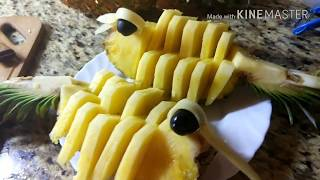 как сделать жар птицу из ананаса