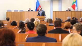 Выступление председателя Совета депутатов Абазы Константина Волохова