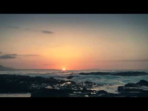 Sunset with Ocean Waves - Relaxing Nature Sounds (Crete Greece)