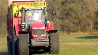 Massey Ferguson 8690, NewHolland TS135- Zber lucerky