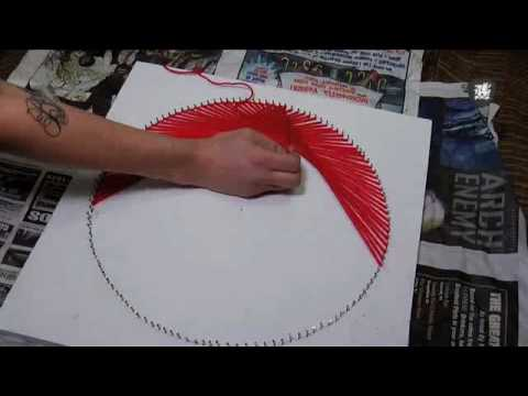 70s String Art Tutorial Decor It Yourself