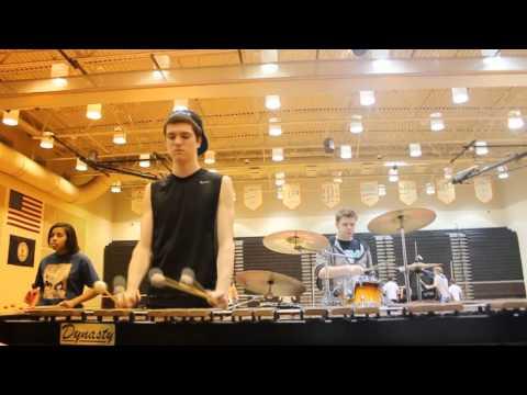 Powhatan High School Drumline Practice 2013