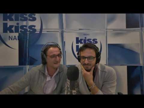 Carlo Conti in diretta a Radio Kiss Kiss Napoli