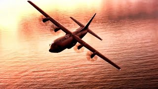 C-130 Aerial View • Red Sky At Night