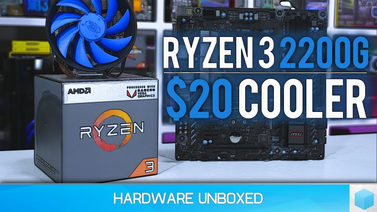 Ryzen 3 2200G, Overclocking Guide with a $20 Cooler!