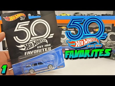 HOT WHEELS 50TH ANNIVERSARY FAVORITES 2018 - FIRST 5 CARS
