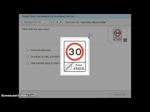 Practice Theory Test - Learn The UK Highway Code