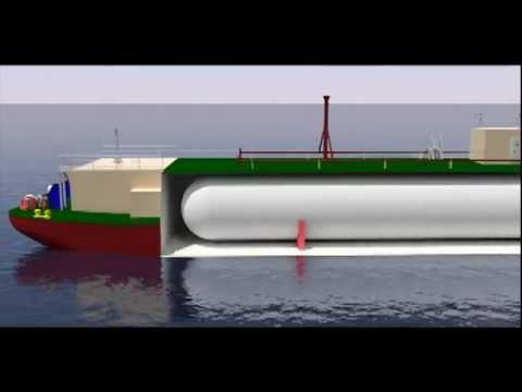 LNG BUNKERING BARGE CUTAWAY