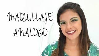 Maquillaje análogo en tonos verdes