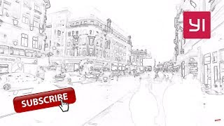 Sketch Effect Timelapse of Smooth Walking from Oxford Circus to Chinatown, London