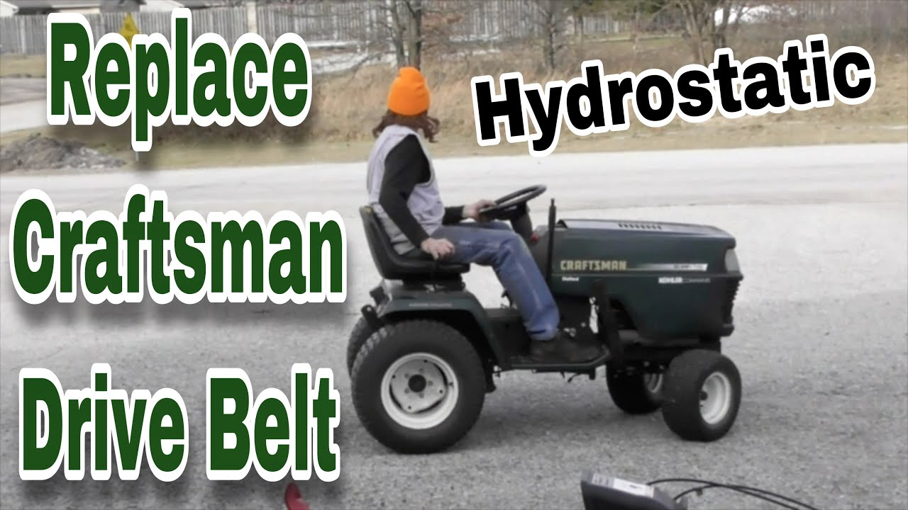 How To Replace The Drive Belt On A Craftsman Garden Tractor Hydro 48 Mower Deck Diagram Besides Mtd Lawn Fix And Dash