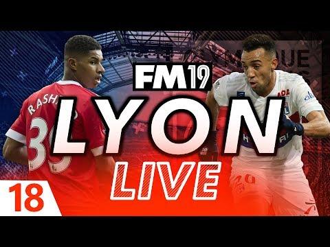 Football Manager 2019 | Lyon Live #18: Champions League Quarter Final #FM19