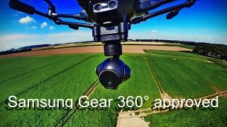 Yuneec Typhoon H & Samsung Gear 360 - 4 ways to attach - for great aerial views!