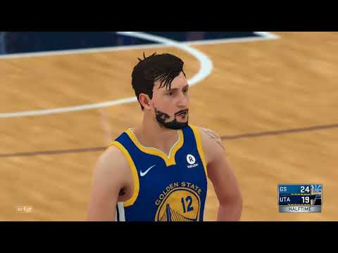 2k18 career golden state vs the jazz