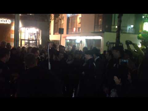 Passerby plays Star Wars theme on the bagpipes in Temple Bar, Dublin Culture Night 2014