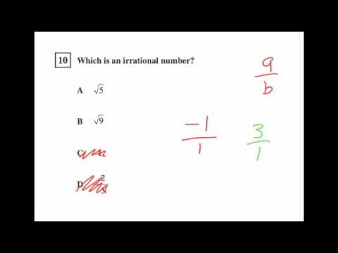 CST Math Released Questions Pre-Algebra 1-16