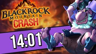 BLACKROCK CRASH My BEST Speedrun in 14:01 w/ Togwaggle! | Rise of Shadows | Hearthstone