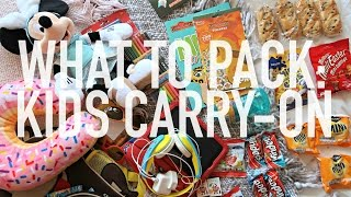 WHAT TO PACK IN KIDS CARRY ON BAG - LONG HAUL FLIGHT | Charlotte Taylor | Charlotte Taylor