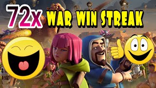 Tak Terkalahkan!!! 72 War Win Streak Clash Of Clans - Dinasti Darso is Amazing Clan of Indonesia