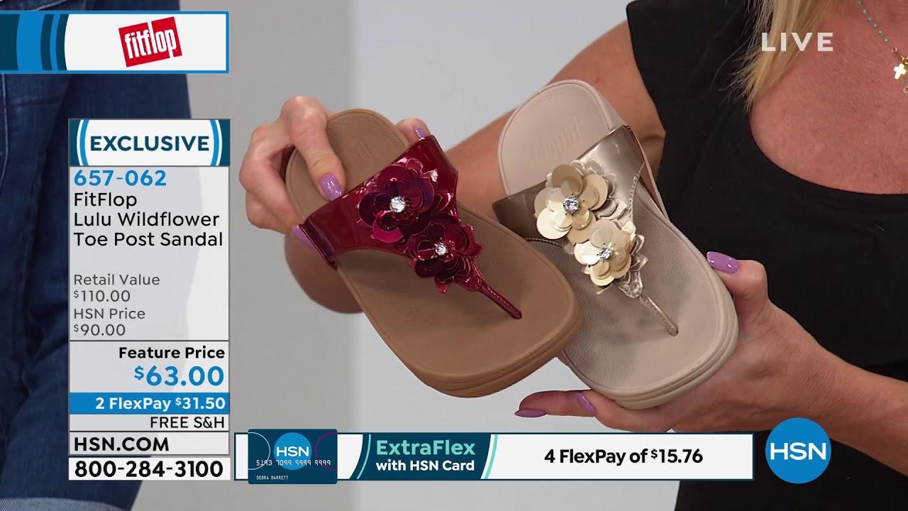 fitflop lulu wildflower toe post sandal