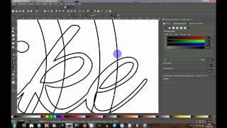 Inkscape Text durch Objekte