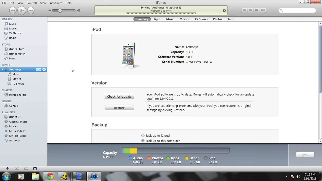 how to put music videos on ipod touch 4g