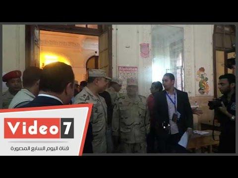 اليوم السابع : قائد المنطقة المركزية يتفقد لجان مدرسة قصر الدوبارة بجاردن سيتى