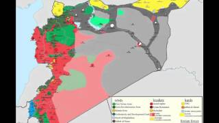 Карта территорий в #Syria с марта 2014 по сентябрь 2015 года.