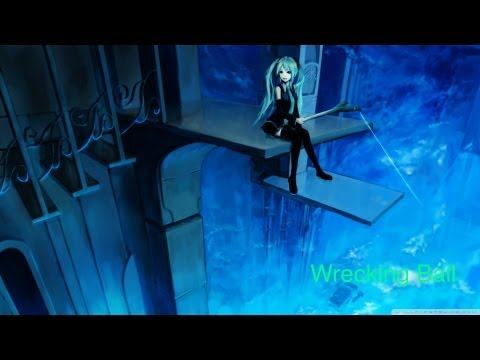 Wrecking Ball - Miley Cyrus feat. Hatsune Miku Vocaloid (English)