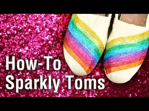 Give Shoes a Sparkly Makeover with Tulip Fashion Glitter!