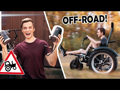 MOTORS for our OFFROAD WHEELCHAIR! | (Philipp didn't expect this!)