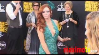 PHOEBE PRICE & CANDIS CAYNE at The American Music Awards Arrivals
