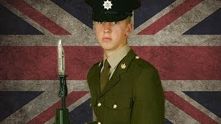 British army: one young recruit