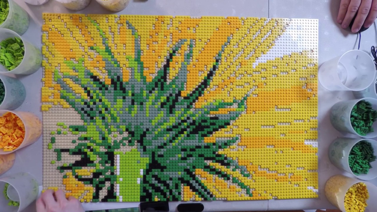 Sunflower   a LEGO mosaic portrait by Brickworkz   YouTube Sunflower   a LEGO mosaic portrait by Brickworkz