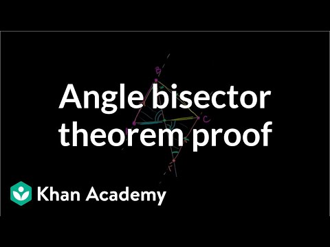Angle bisector theorem proof | Special properties and parts of triangles | Geometry | Khan Academy