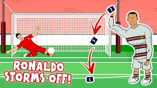 😠RONALDO THROWS THE ARMBAND!😠 (Serbia vs Portugal disallowed goal 2021 World Cup Qualifiers)