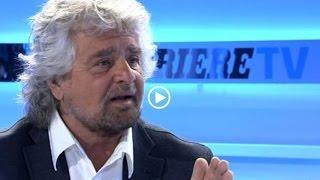 Beppe Grillo al Corriere - Intervista (INTEGRALE)