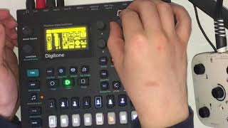 Detroit Techno with only the digitone. WOW MAN!!